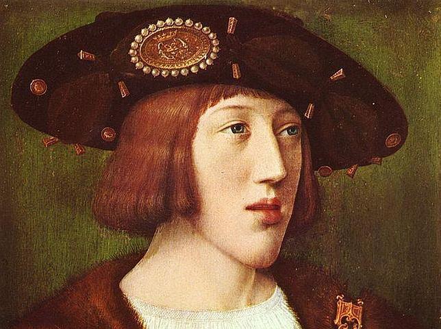 Carlos I, de joven, retratado por Bernard van Orley